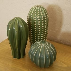 *NEW* Porcelain Cacti Decor - Set of 3